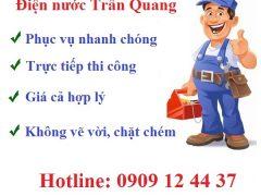 thợ sửa chữa điện nước Trần Quang